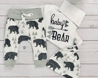 baby boy coming home outfit/baby bear/ take home outfit/ newborn boy/organic cotton Newborn ready to ship