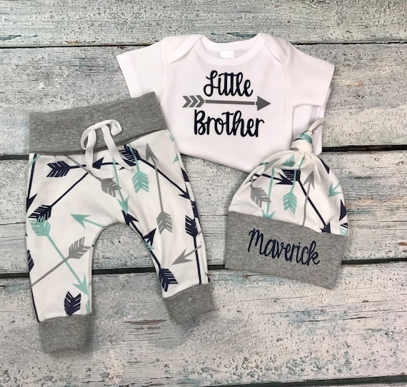 Fresh from Heaven baby boy coming home outfitnewborn outfit with BeanieBaby shower giftcustom take home outfithospital outfitnew baby