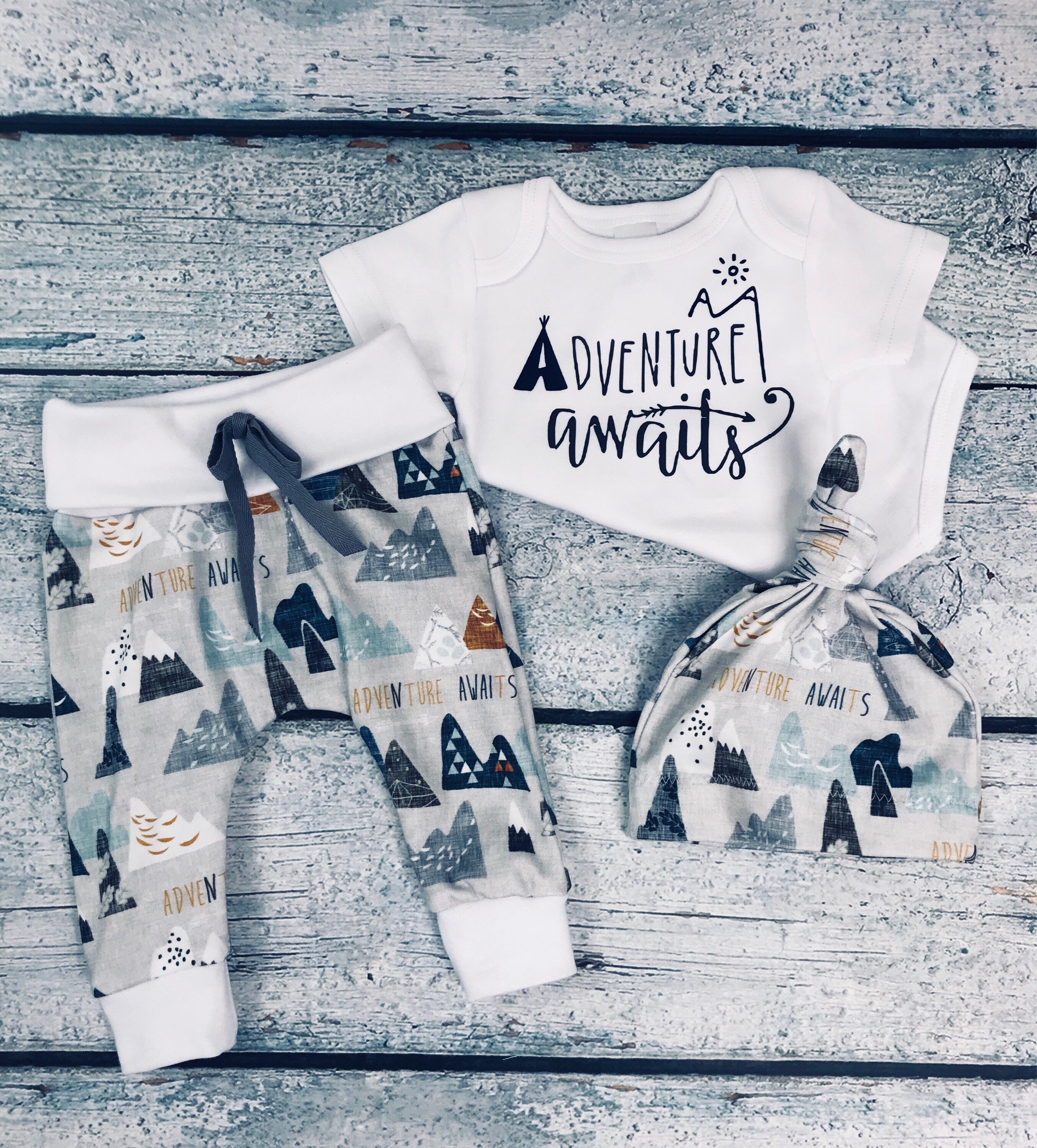 feb4788503445 baby boy coming home outfit adventure awaits outfit baby boy take home  outfit newborn outfit organic cotton newborn set baby shower gift