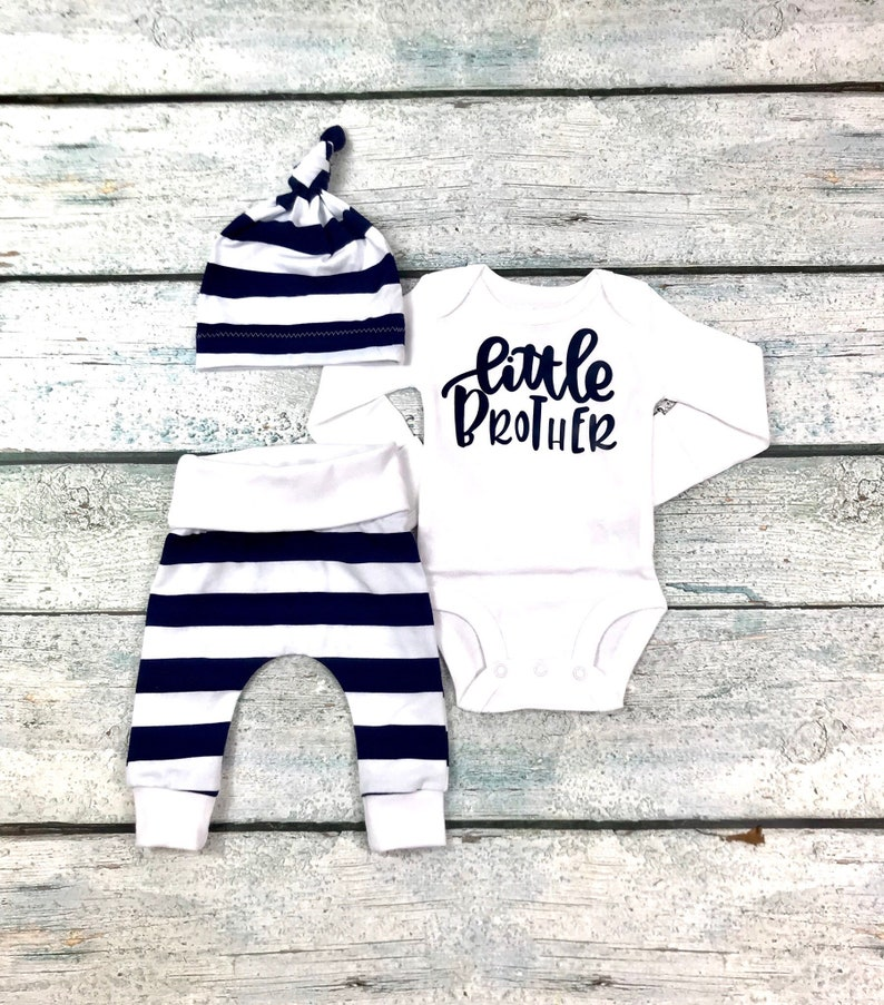 da2ded61c Newborn baby boy coming home outfit/little brother newborn | Etsy
