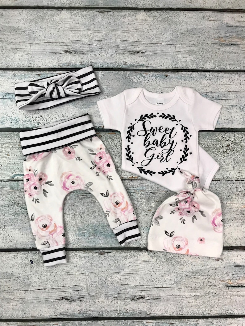 9e910dd2b83c Baby girl coming home outfit newborn girl little sister