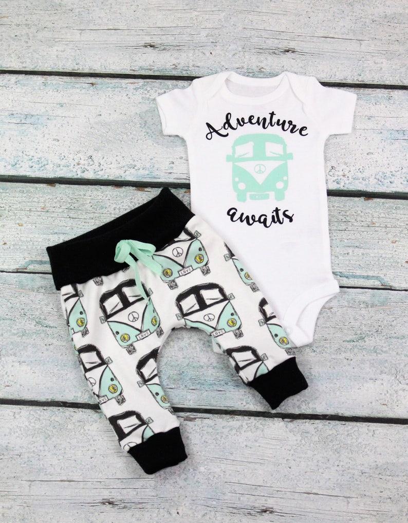 30dc0f6e048e Newborn baby boy home coming set adventure awaits baby girl