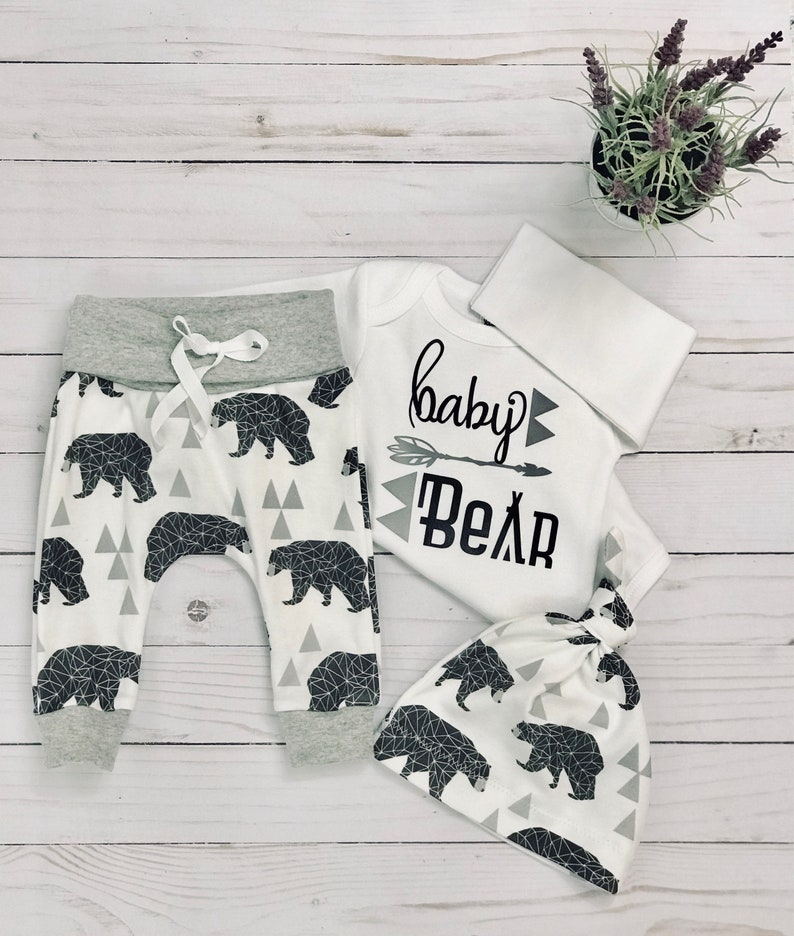 4da0b702b00bb baby boy coming home outfit/baby bear/ take home outfit/ newborn  boy/organic cotton