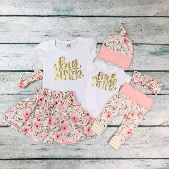 Sister Dresses Gifts for Baby Girl Coming Home Outfit Little Sister Gift Sibling Outfits Little Sister Outfit Baby Shower Gift