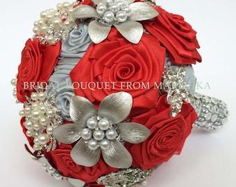 Brooch bridal bouquet