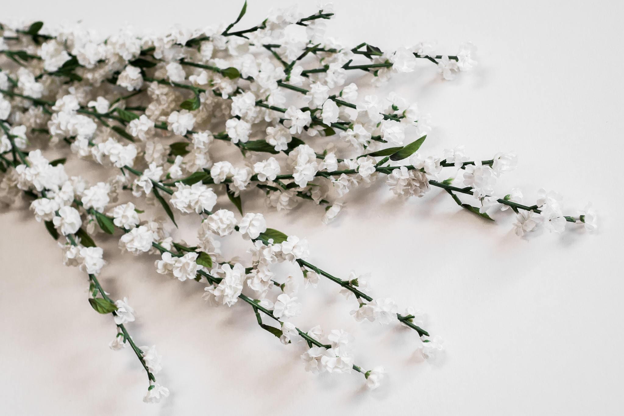 1 Box/12pcs White-Cream Blossoms Long Stems 29\