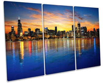 Chicago Skyline Etsy