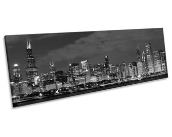 Chicago Skyline Framed Etsy