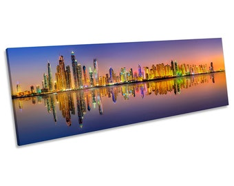 Dubai panoramic art   Etsy