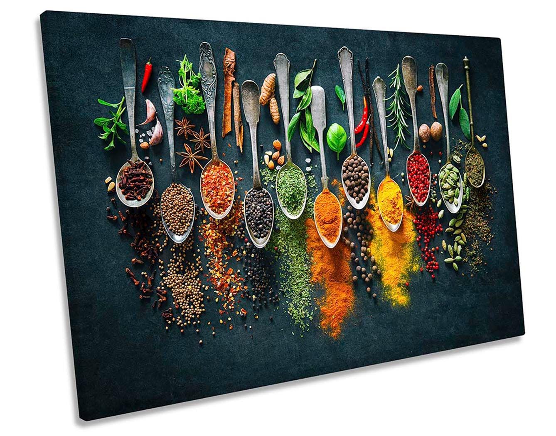 kitchen signs kitchen prints,kitchen art Framed Picture Home Original Decor Kitchen painting Herbs /& Spices Kitchen canvas art print Box