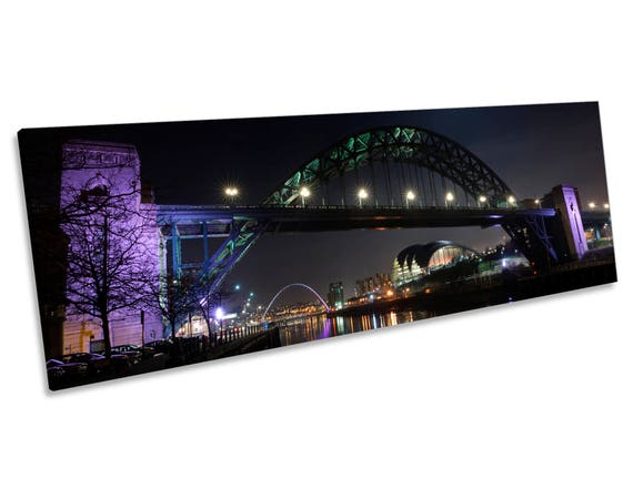 Various Sizes Tyne Bridge Ready To Hang Newcastle Upon Tyne Box Canvas