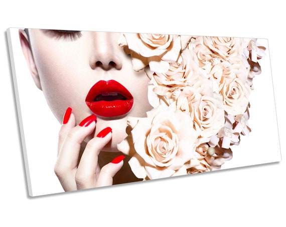 Modern Picture Print on Canvas Lips Women/'s 30 it forms 3779