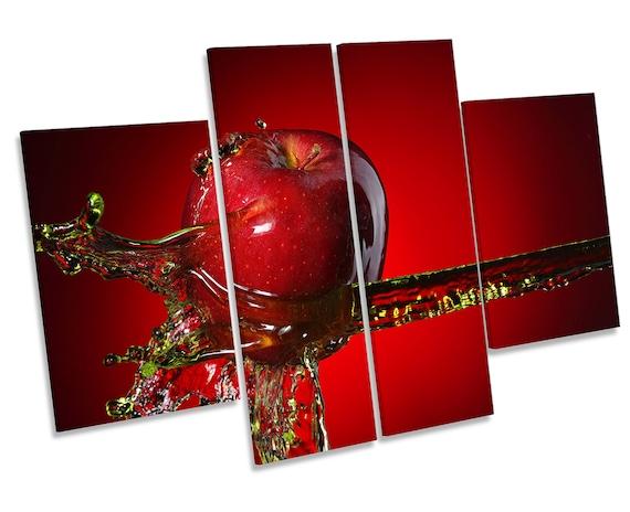 Fruit Kitchen Splash  CANVAS WALL ART TREBLE Print Picture