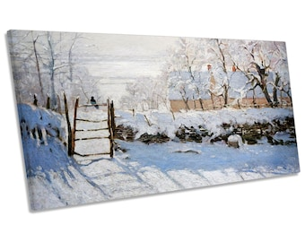Claude Monet The Magpie Panoramic CANVAS WALL ART Print