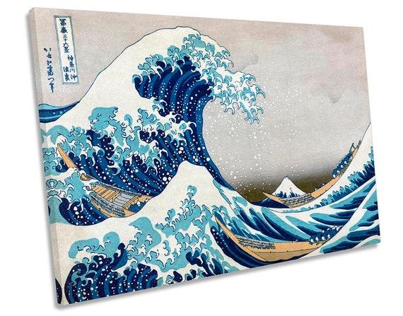 Hokusai Great Wave off Kanagawa Large Canvas Wall Art Print