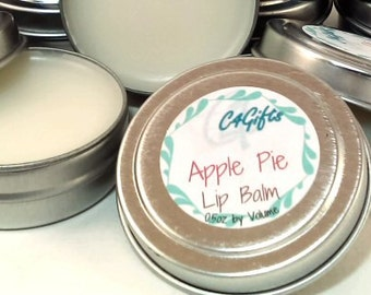 Apple Pie Lip Balm - Unsweetened, Natural Lip Balm, Beeswax Lip Balm, Lip Balm Tin, Flavored Lip Balm, Shower Favors, Birthday Gift