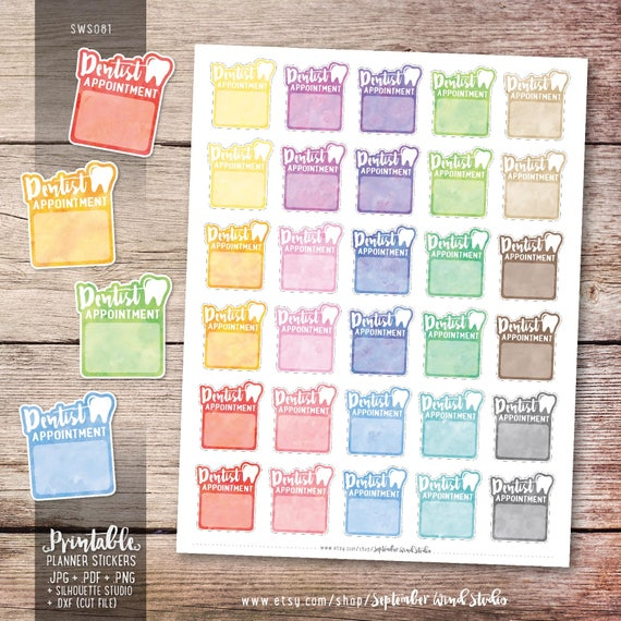 Toothache S238-Dentist Appointment,Tooth Pain Planner Stickers Erin Condren