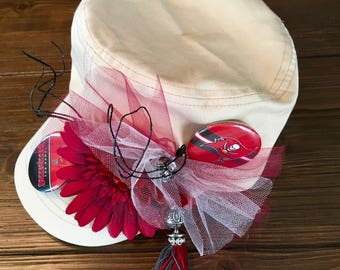 Tampa Bay Buccaneers Diva Hat, TB Bucs Hat, Buccaneer Fan Gift, Sports Team Custom Hats, Sports Derby Hat, CUSTOMIZE to your favorite team!