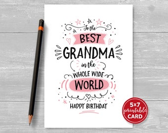 Printable Birthday Card For Grandma