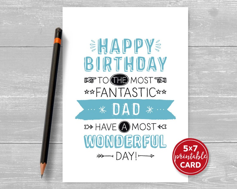 graphic relating to Printable Birthday Card for Dad named Printable Birthday Card For Father - Delighted Birthday Toward The Utmost Good Father Comprise The Maximum Good Working day - 5\