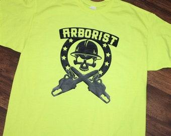 66bf9c8b1c Arborist T-Shirt | Tree Surgeon Shirt | Forestry Shirt | Chainsaw Shirt