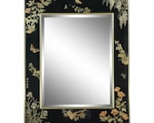 LaBarge Chinoiserie Style Eglomise Mirror in Black - Very Rare Example