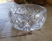 Vintage Waterford Clear Glass Candy Dish Lismore