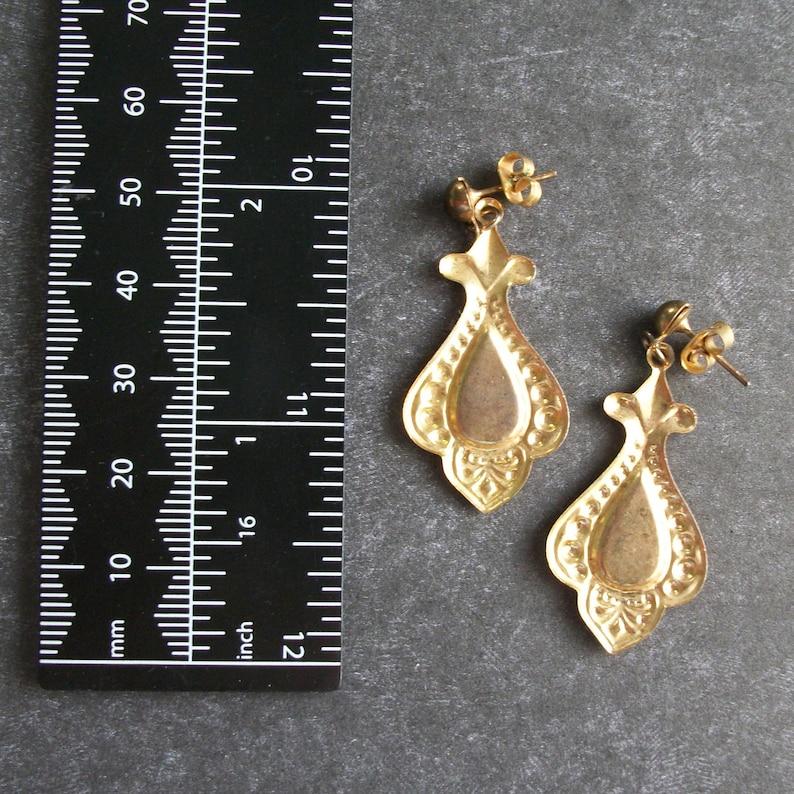 SUMMER SALE Vintage Earrings Vintage Pierced Earrings Dangle Earrings Gold Earrings Jewelry Vintage UnSigned Vintage Jewe