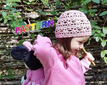 crochet hat pattern sizes 6 months-2 years , baby crochet hat pattern, toddler crochet hat pattern