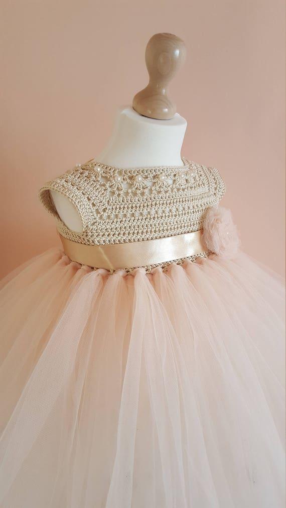 Tutu Dress Crochet Dress Crochet Yoke Princess Dress Etsy
