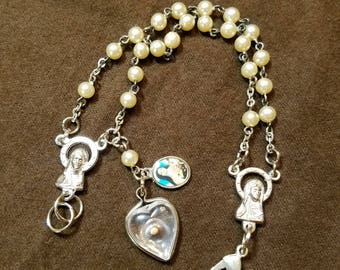 Rosary Bracelet with Mustard Seed