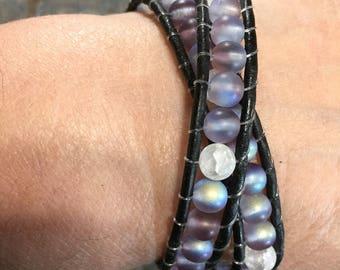 2 wrap glass beaded bracelet
