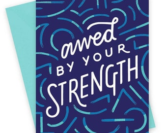 Awed by Your Strength • single card