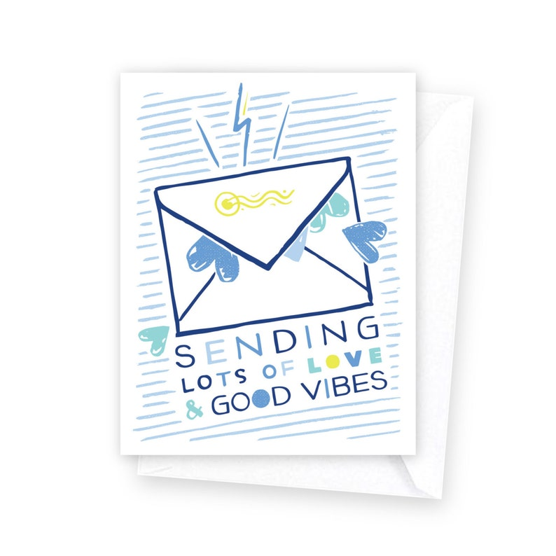 Sending Love /& Good Vibes \u2022 single card
