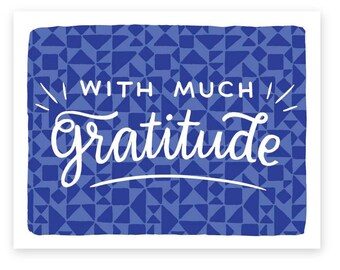 With Much Gratitude • single card