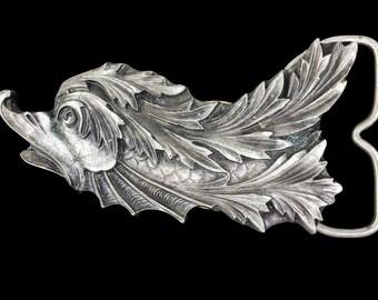 Vintage 1970s NOS Weird Birdfish Bird Fish Sea Creature Nautical Belt Buckle