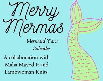 Merry Mermas 2021 Mini Skein Yarn Calendar