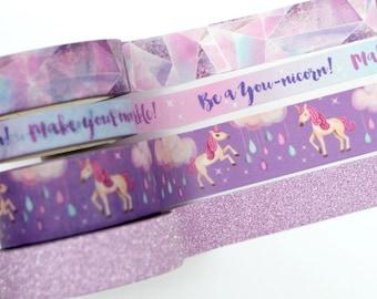 Unicorn Washi Tape Set - EXCLUSIVE DESIGN - by WashiChick