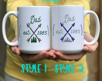 father s day mug etsy