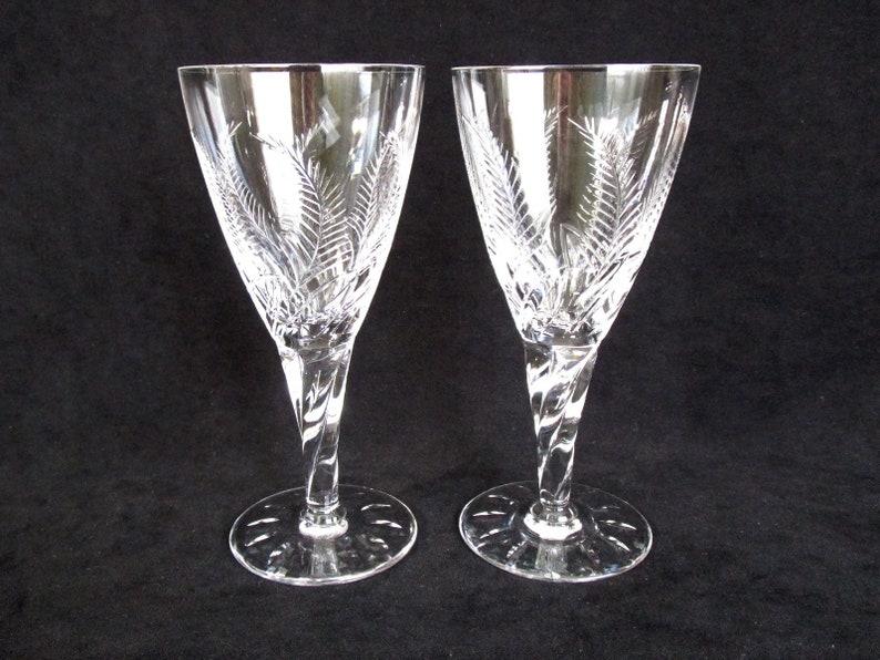 0dfb84fa1ad Set of 2 Stuart Crystal Wine Glass Ellesmere Pattern Signed
