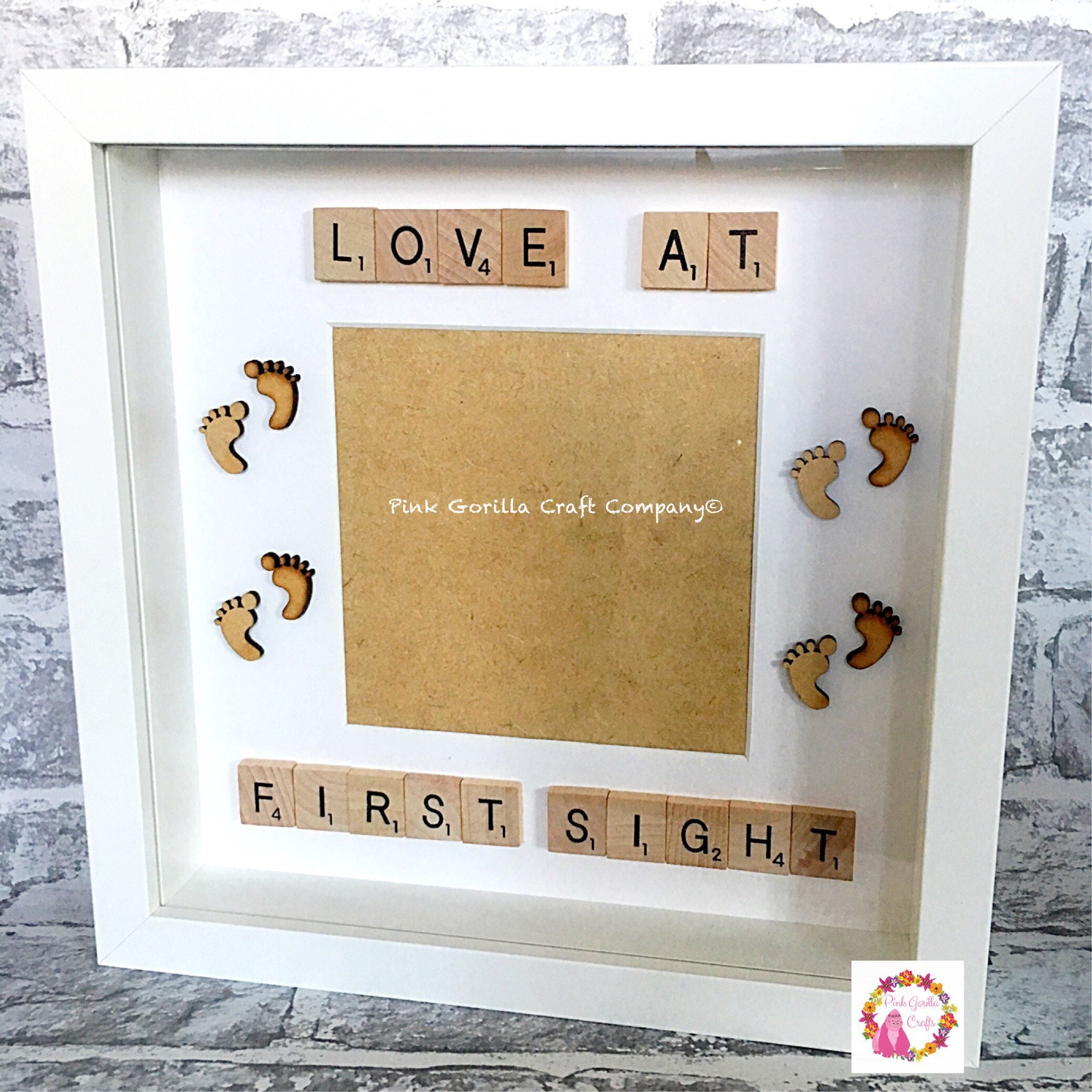 Love At First Sight Scrabble Frame Etsy