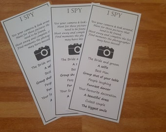 I Spy Wedding table game