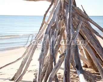 Beach Teepee Photo Digital Download