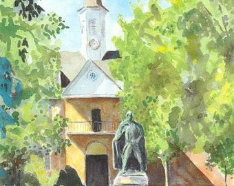Wren Building - W&M 14x11 Signed and Numbered Print