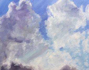 "Illumination | Original Cloud Painting | Oil on  Panel 6"" x 6"""