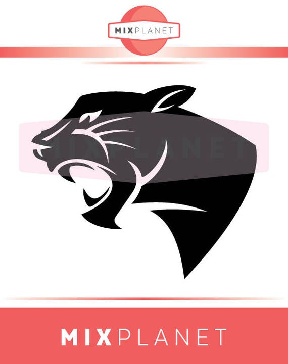 Black Panther SVG Cut Files Head Black Panther Logo DXF   Etsy