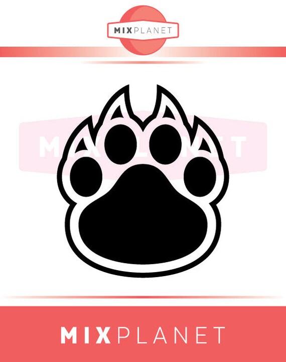 Bear Paw Svg Cut Files Bear Paw Dxf Cutting Files Monogram Etsy