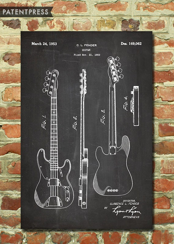 Electric Guitar Decor Fender Wall Art Gift For