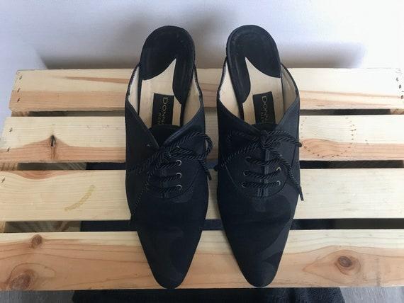 Vintage 1980's Donna Karan Black Label Slip On Tie