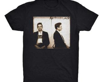 Johnny Cash T-Shirt. Johnny Cash Mugshot. Music T-shirt. Graphic Tee. Country Music T-Shirt. Gift for him. Gift for her. Cotton Soft Tee.
